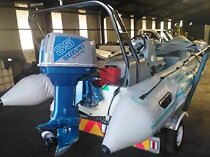 4.5m Rubber Duck Semi Rigged Boat with an 85Hp Suzuki 2 stroke motor (including Motor)