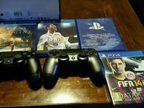 Selling PS4 500GB Slim Console Camera 2 x DualShock 4 Controller 4 Games