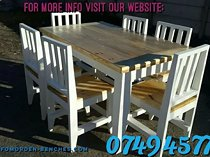 Neat and nice tables, chairs and benches sets