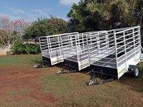 2,4m single axel cattle trailers