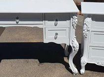 French vintage style dresser with matching pedestals