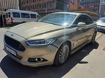 2016 ford fusion 2.0 ecoboost trend at, gold with 85000km available now!