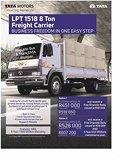 Tata lpt 1518 8 ton freight carrier