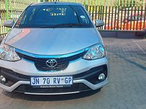 Silver toyota etios 1.5 xs sedan with 19000km available now!