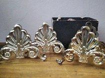 Pair of vintage italian leonard silver-plated napkin holders and knife